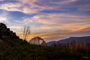 sunset view tent