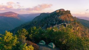 2 tents from sky view
