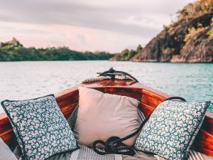 pillow in boat