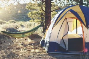 tent and a hammock