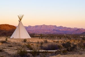 tepee in dessert