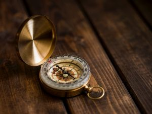 gold plated compass